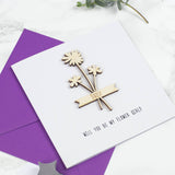 Personalised Flower Girl Keepsake Card