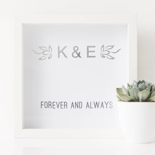 Personalised Forever And Always Framed Print