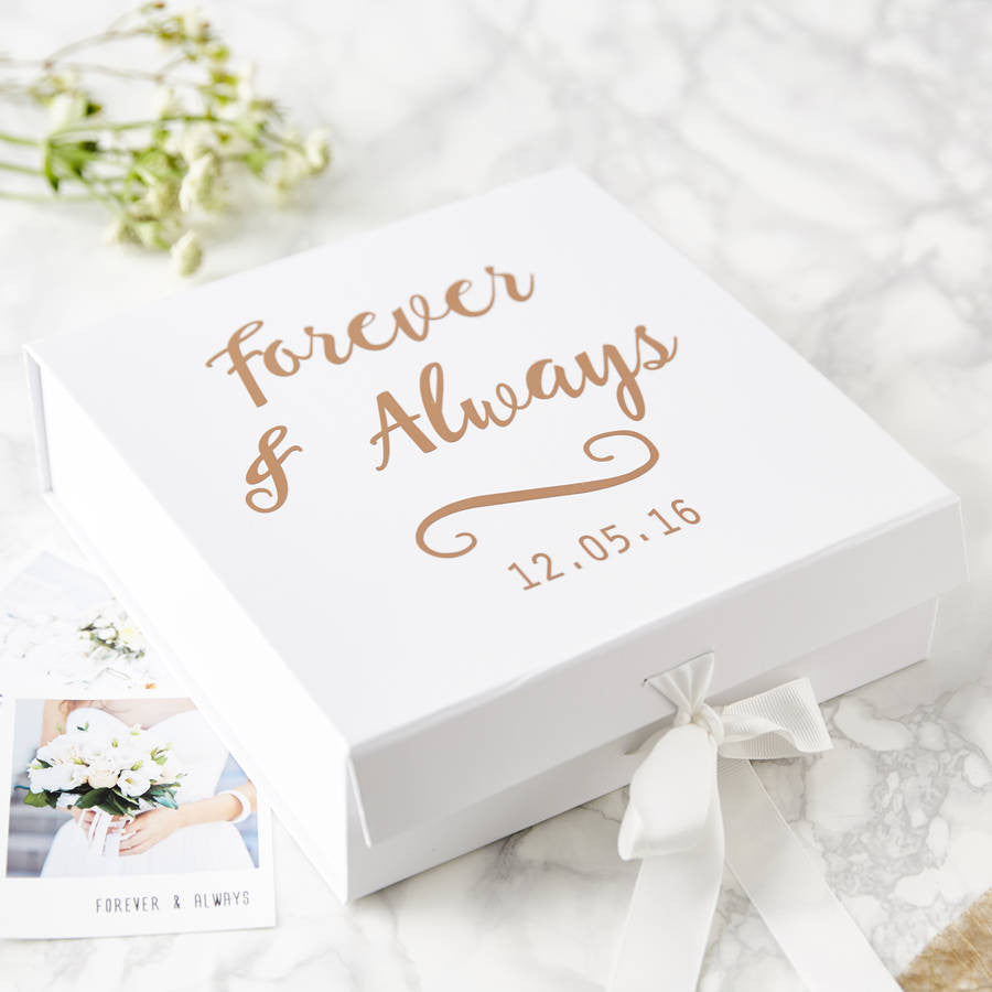 Personalised Forever And Always Keepsake Box