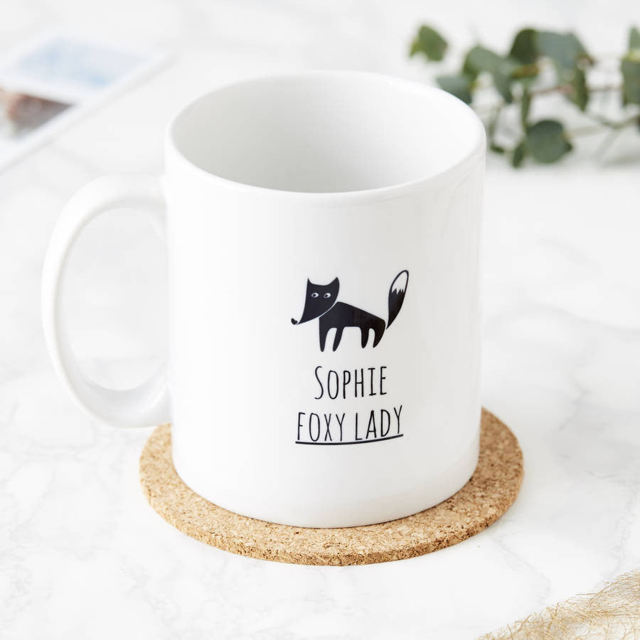 Personalised Foxy Lady Mug