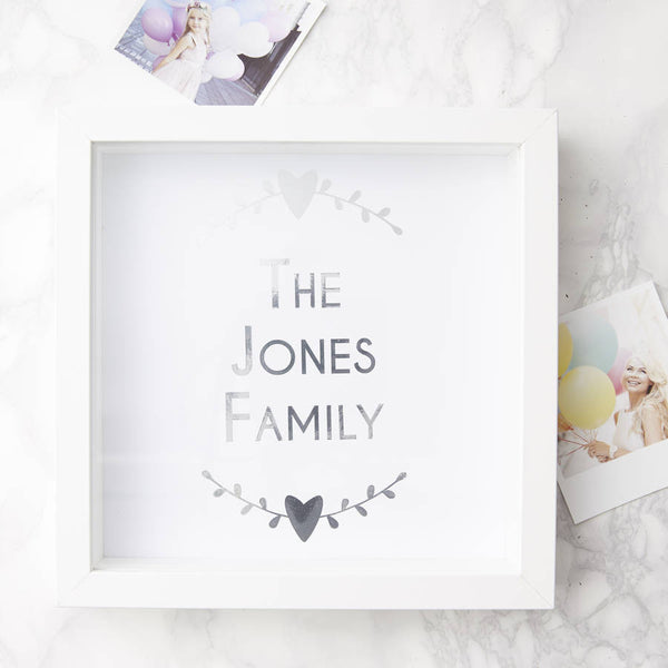 Personalised Framed Family Print