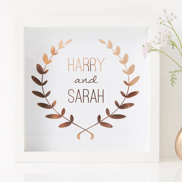 Personalised Framed Wedding Print