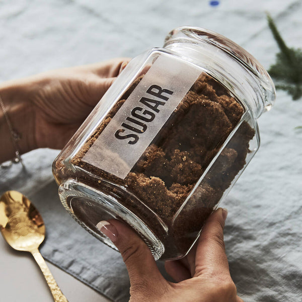 Personalised Glass Baking Storage Jar