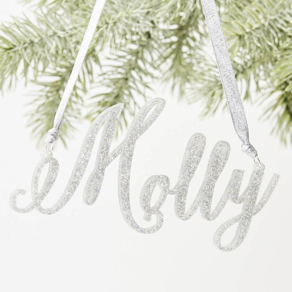Glitter Personalised Christmas Decorations
