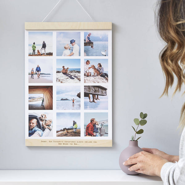 Personalised Hanging Fathers Day Photo Print Frame