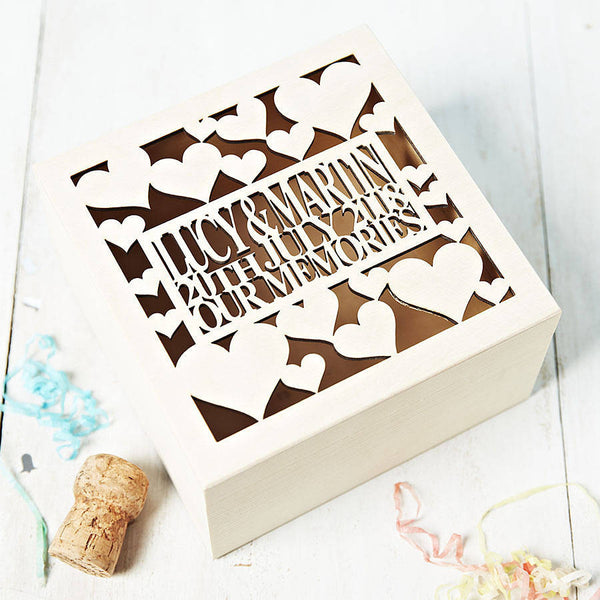 Personalised Anniversary Keepsake Box