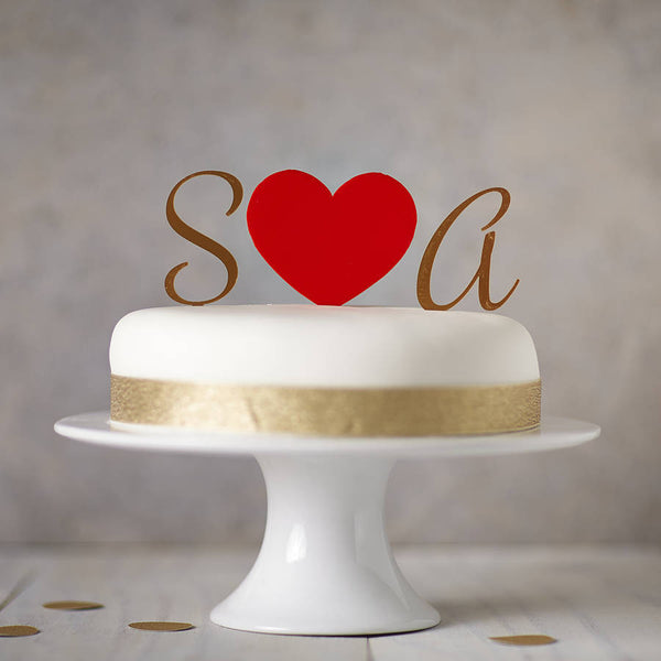 Personalised Monogram Cake Toppers