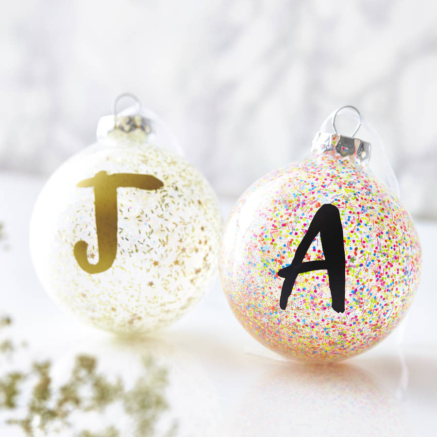 Personalised Initial Pick And Mix Bauble