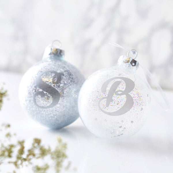 Personalised Initial Sparkle Bauble