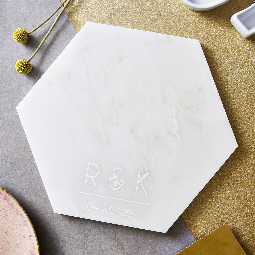 Personalised Initials Marble Serving Board