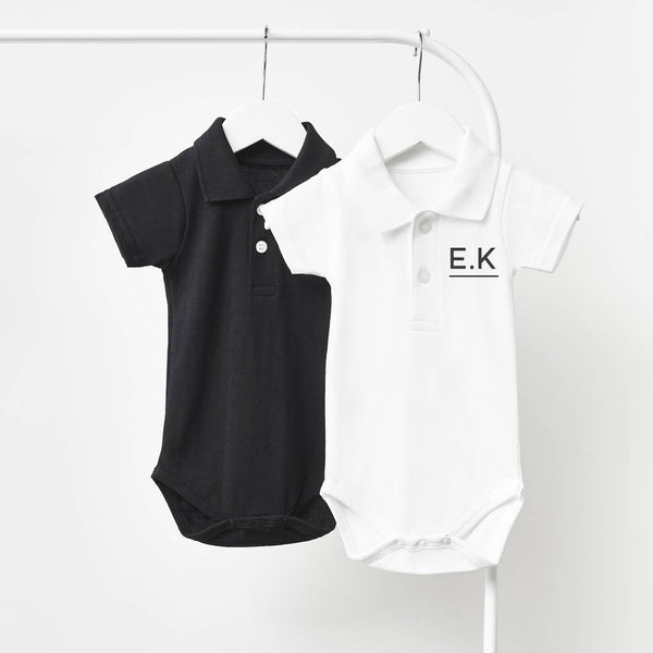 Initials Personalised Polo Babygrow