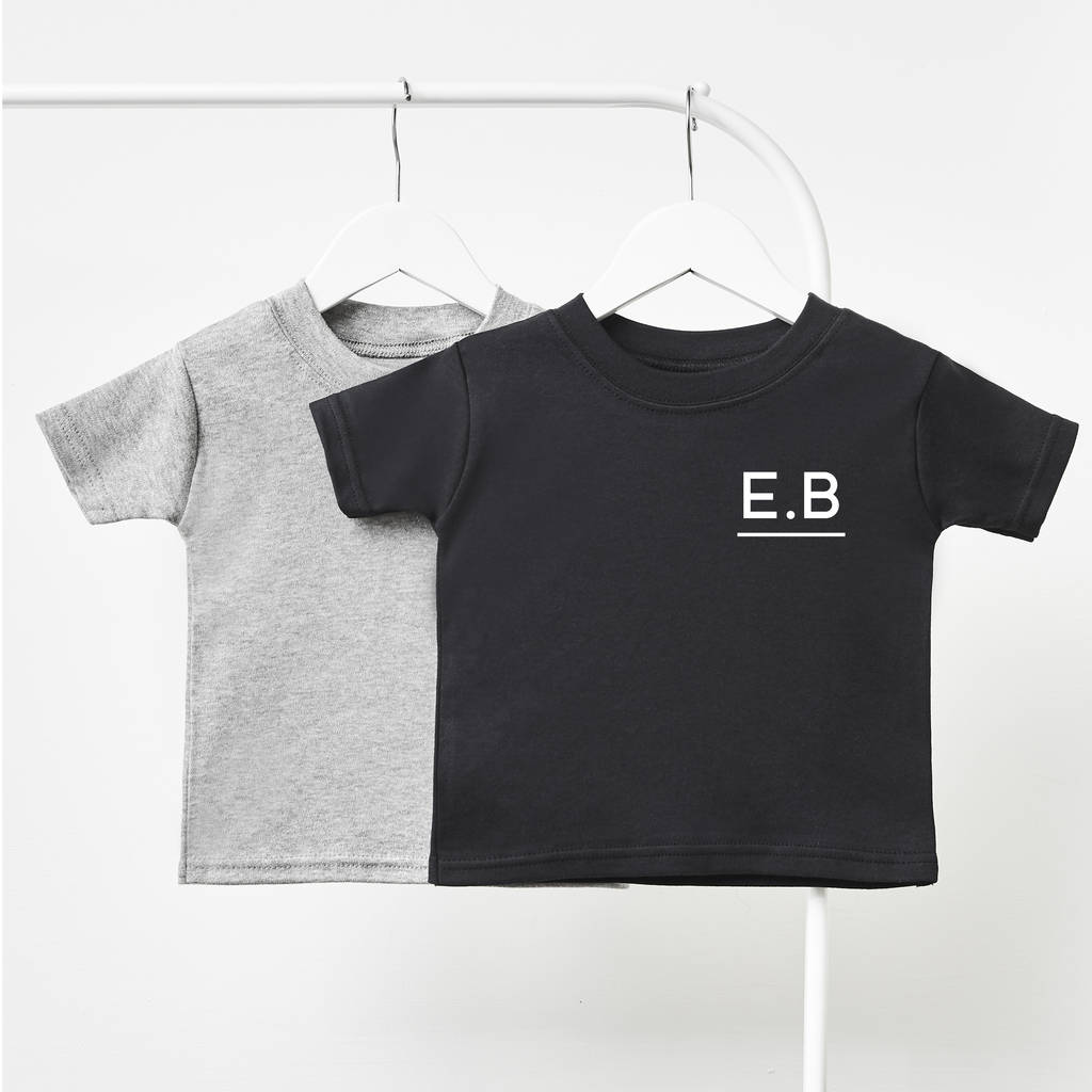 Initials Personalised Children's T Shirt