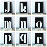 Personalised Inverse Lowercase Typographic Print