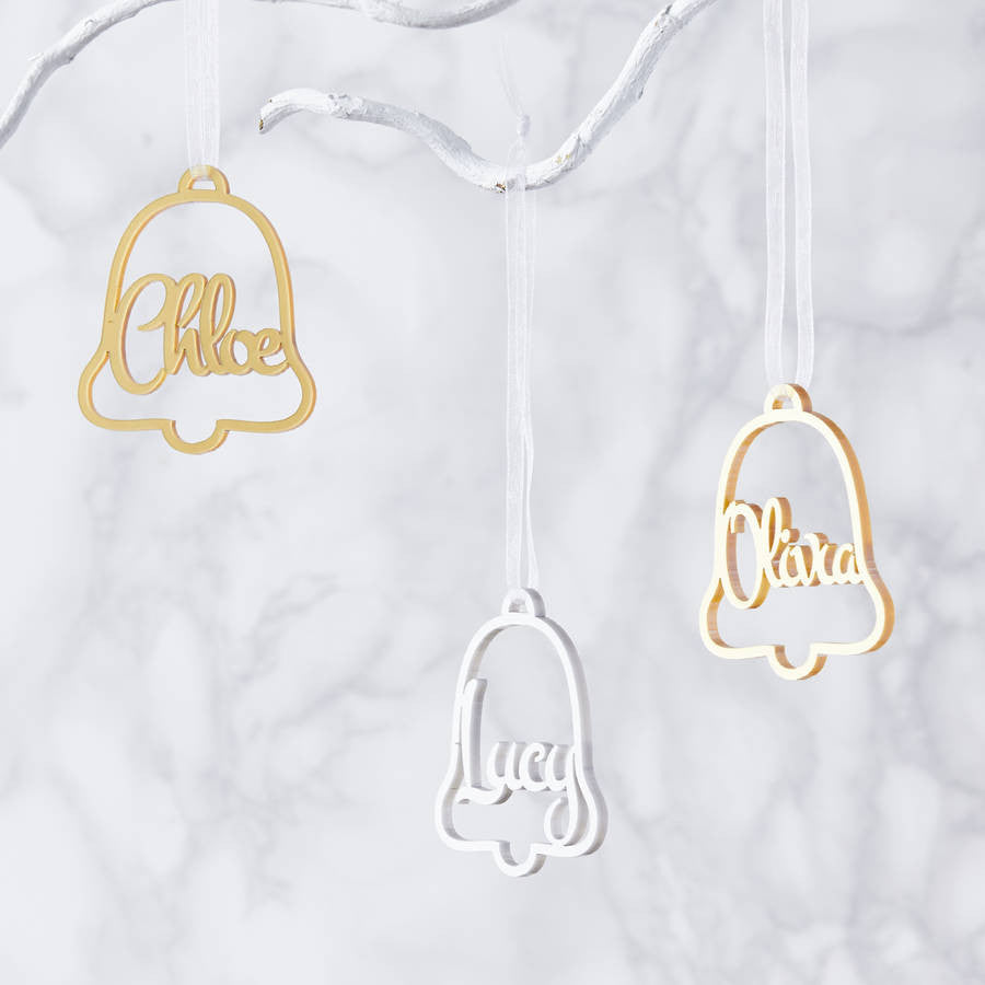 Personalised Jingle Bell Metallic Christmas Decoration