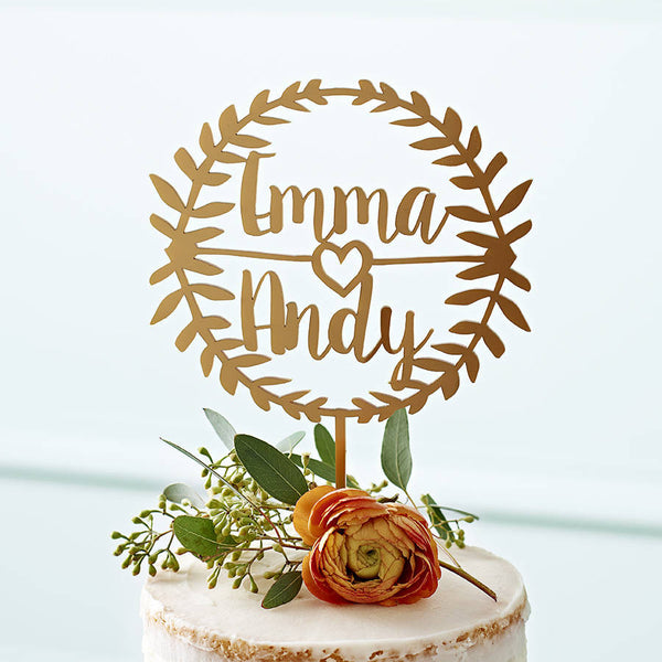 Personalised Laurel Couples Cake Topper