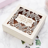 Personalised Laurel Keepsake Box