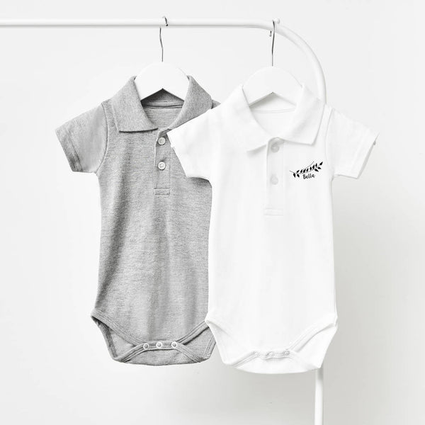 Laurel Personalised Polo Babygrow