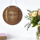 Personalised Laurel Wooden Wall Art