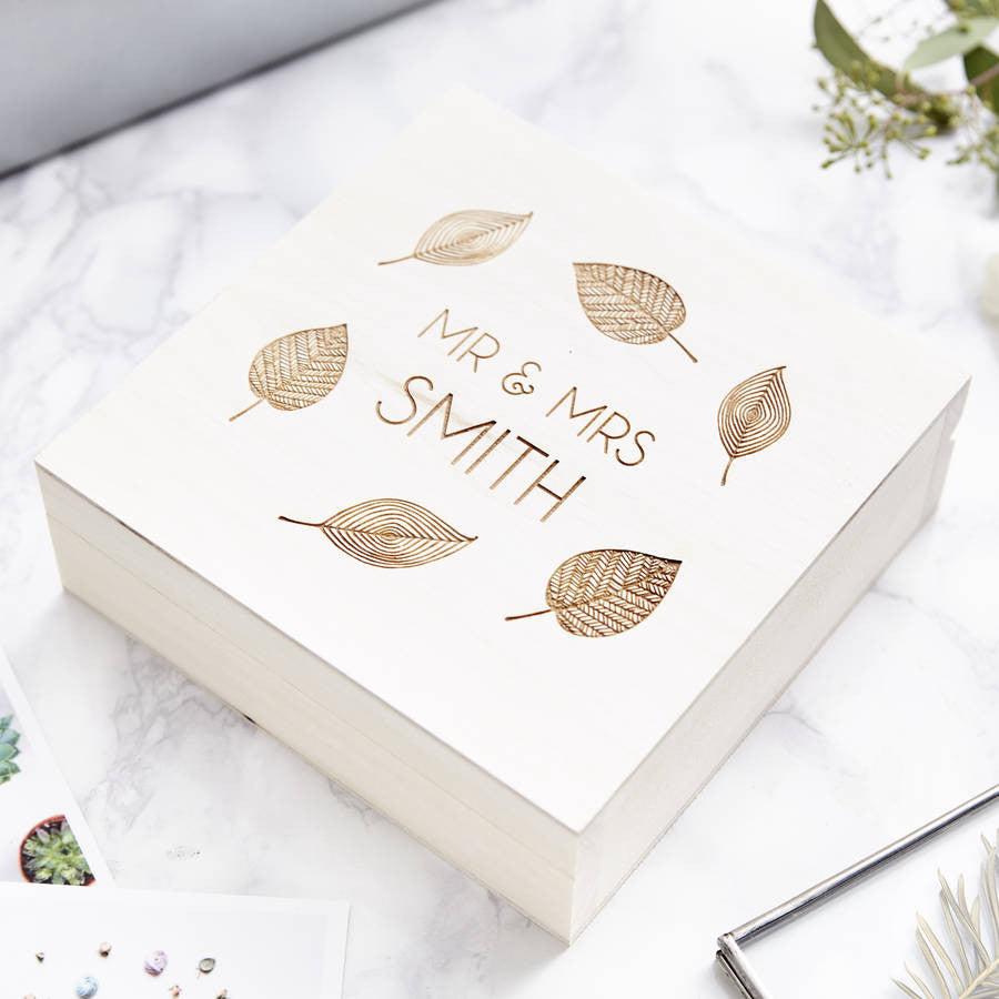 Personalised Leaf Keepsake Box