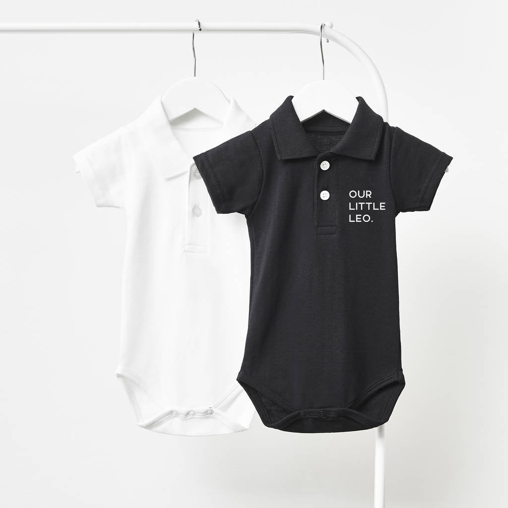 Little One Personalised Polo Babygrow