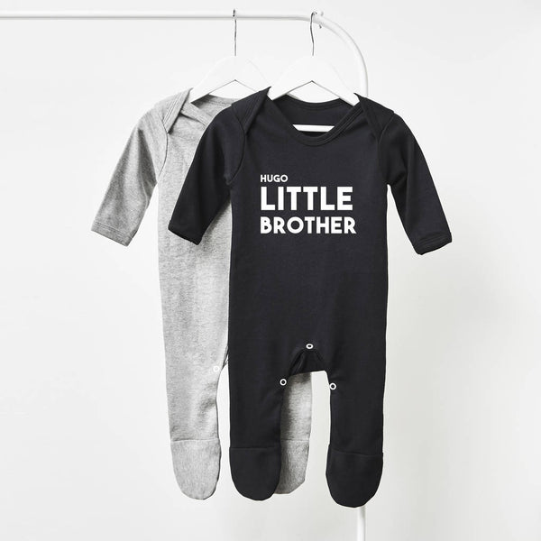 b8158da37 Personalised Little Brother Babygrow