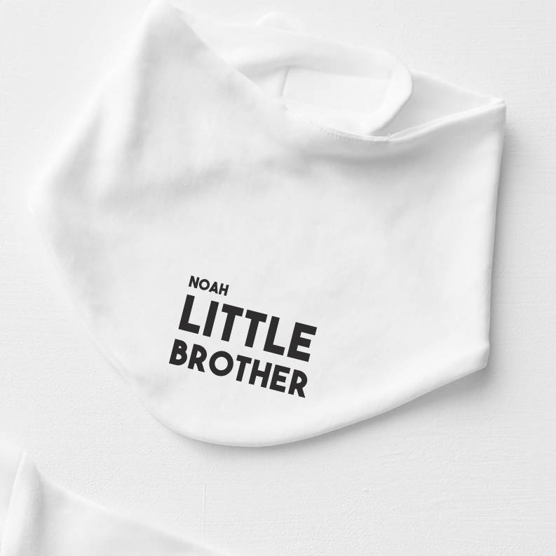Personalised Little Brother Bib