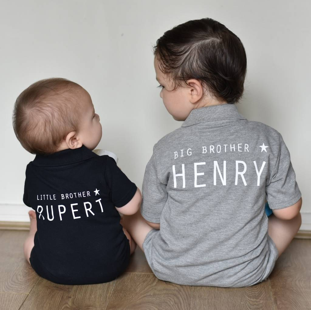 Personalised Little Brother, Big Brother Gift Set
