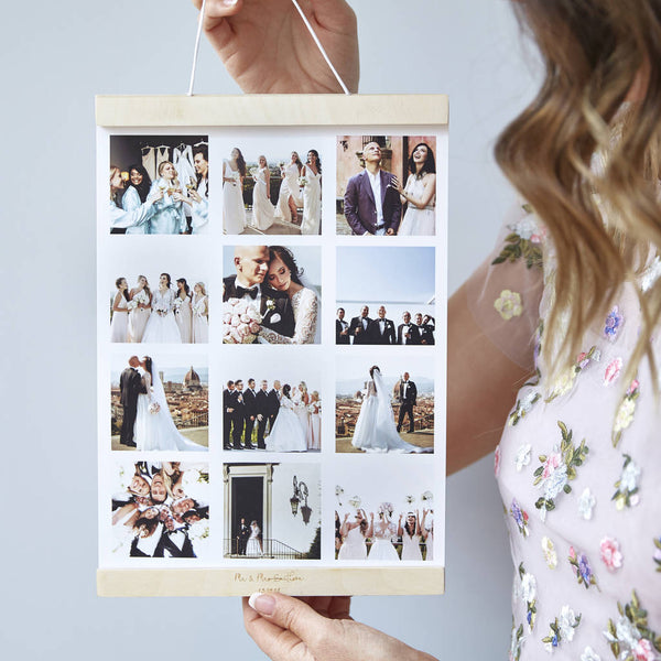 Personalised Magnetic Hanging Wedding Photo Print Frame