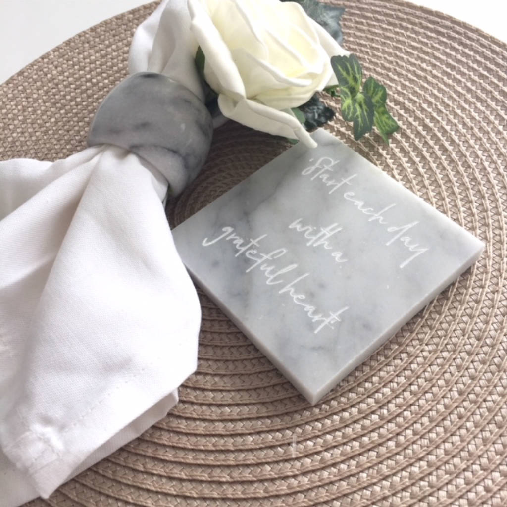 Personalised Marble Square Coaster