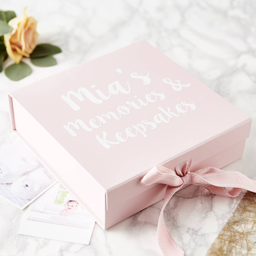 Personalised Memories And Keepsake Box