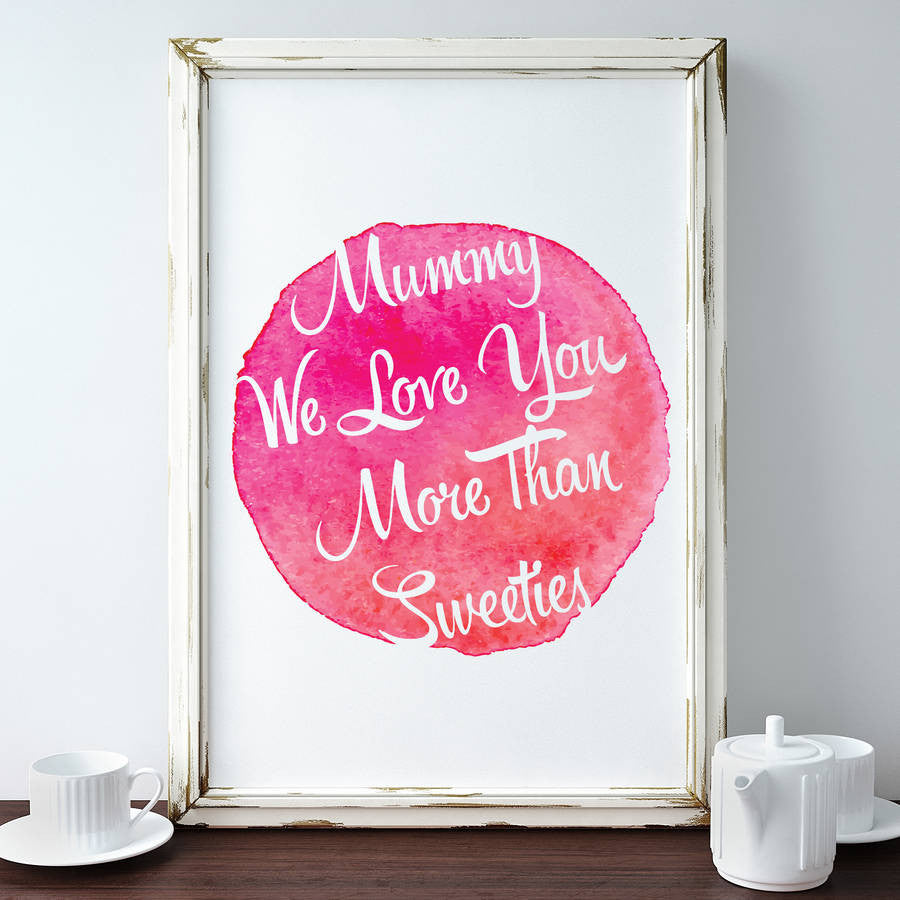 Personalised Watercolour Print