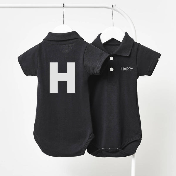 Monogram Personalised Polo Babygrow