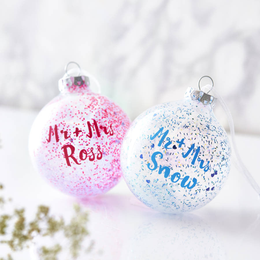 Personalised Mr And Mrs Pick And Mix Bauble
