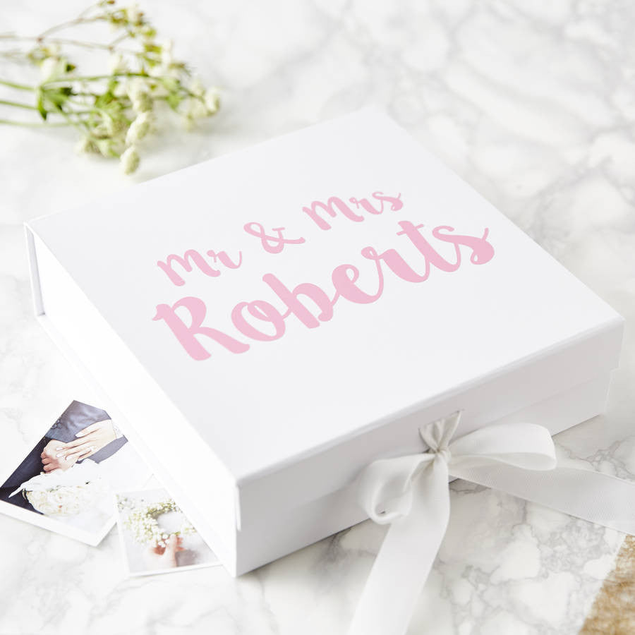 Personalised Mr And Mrs Wedding Keepsake Box