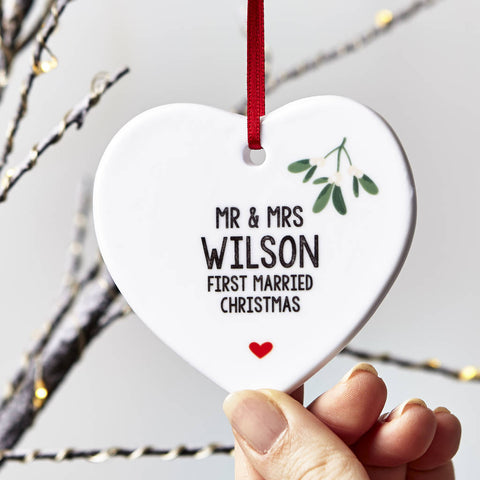 Couples Personalised Christmas Decoration