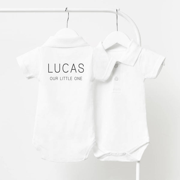 Mini Message Personalised Polo Babygrow