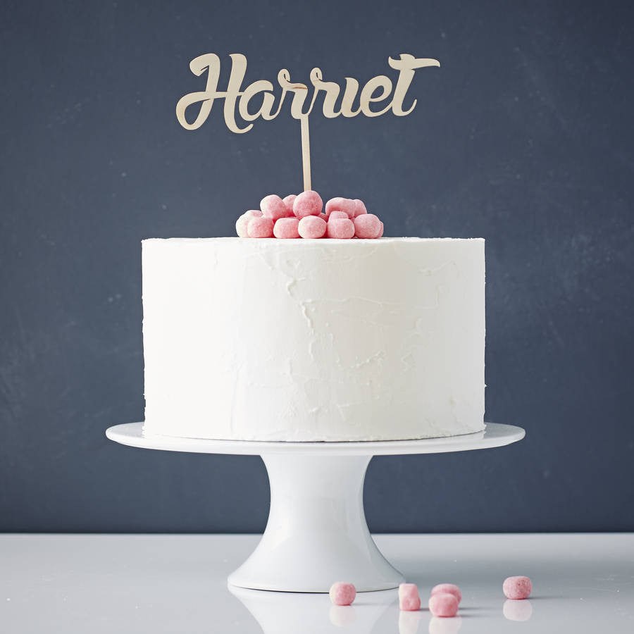 Personalised Name Wooden Cake Topper