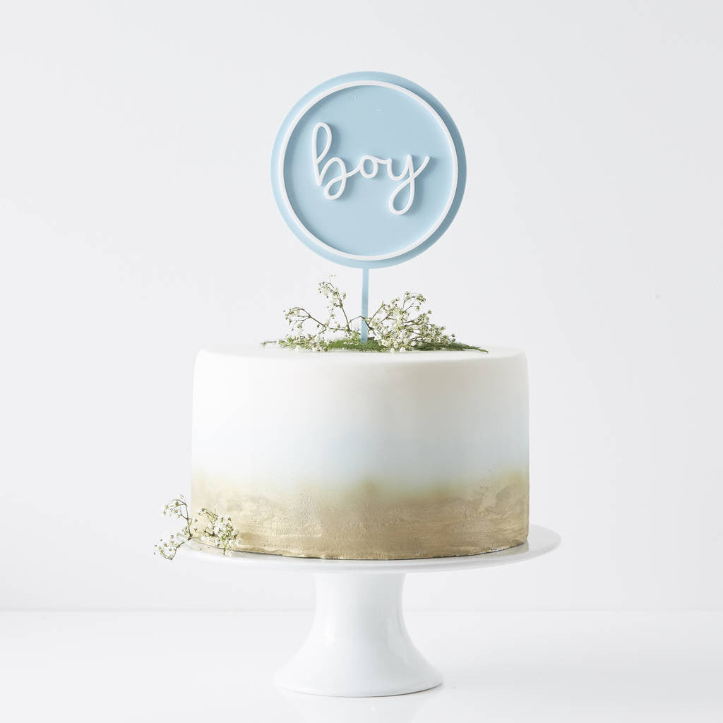 Personalised New Baby Cake Topper