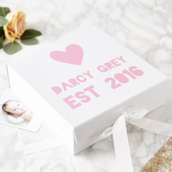 Personalised New Baby Gift Keepsake Box