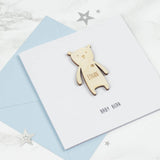 Personalised New Baby Keepsake Card