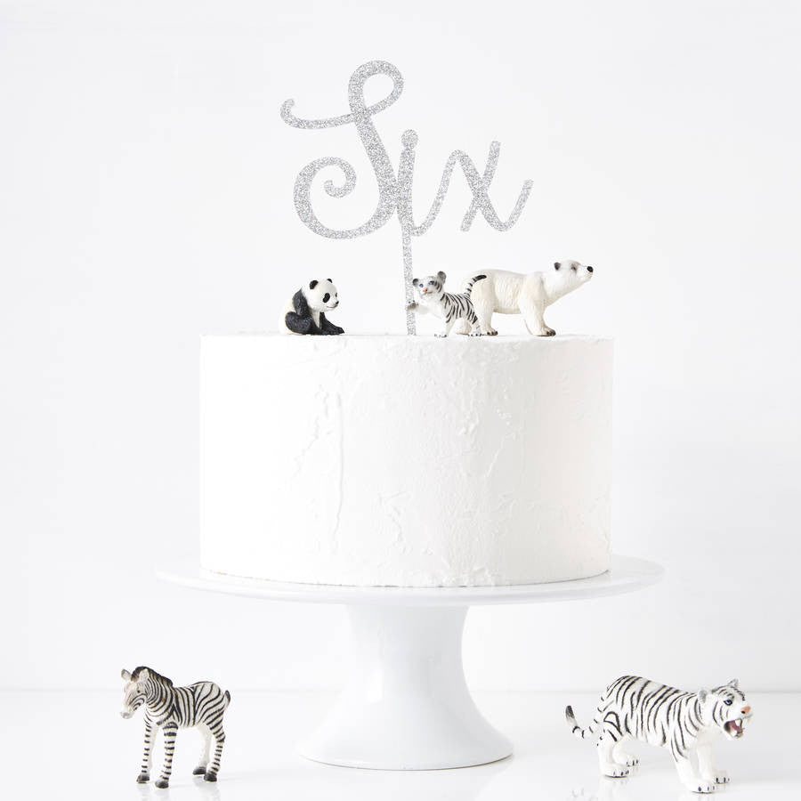 Personalised Number Birthday Cake Topper