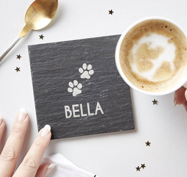 Personalised Pet Slate Coaster