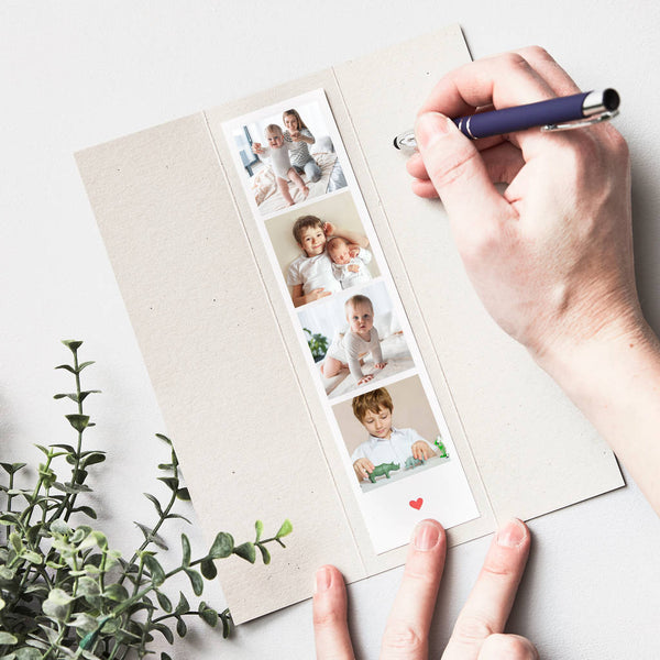 Personalised Photo Booth Strip Card