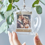 Personalised Photo Dome Glass Bauble