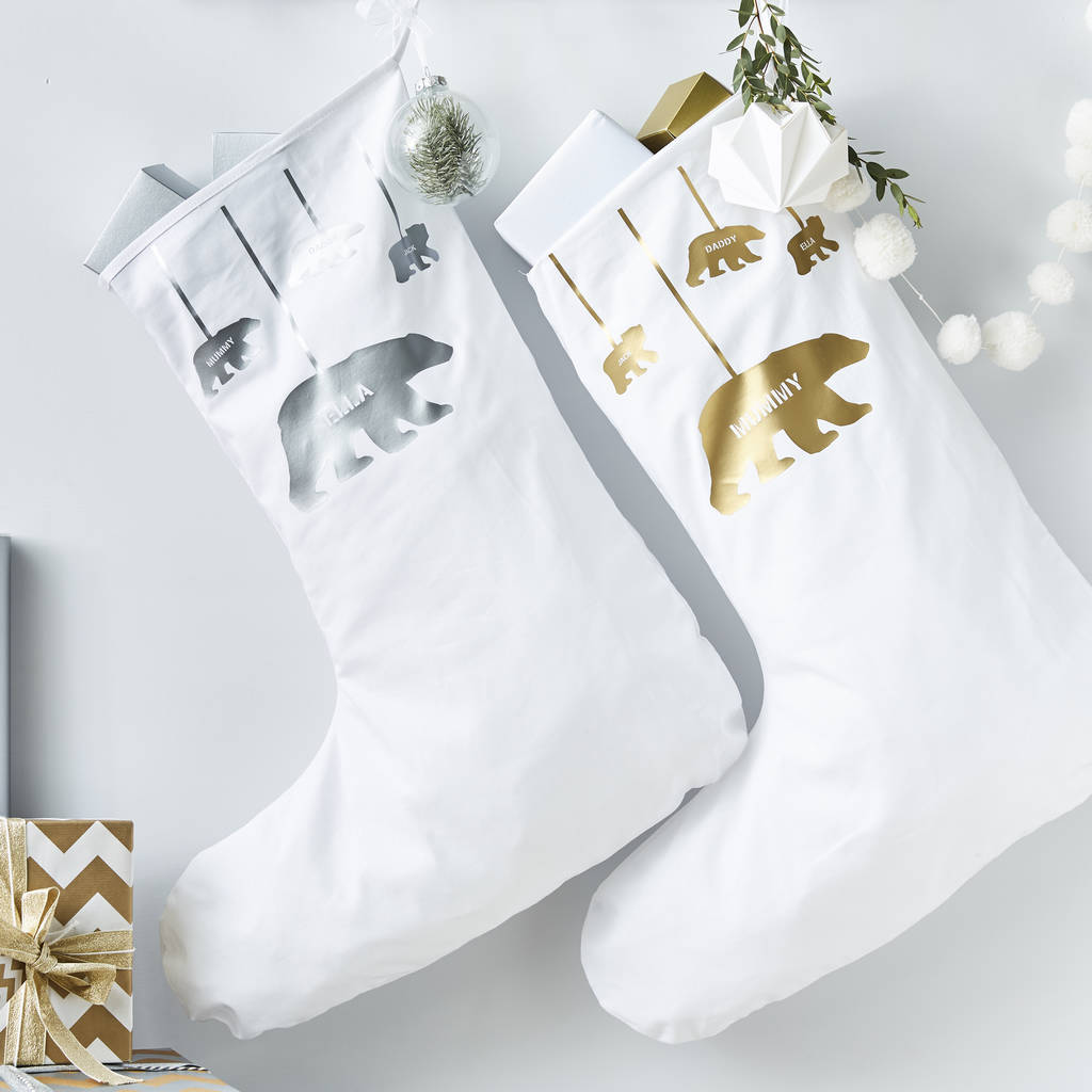 Personalised Polar Bear Christmas Stocking