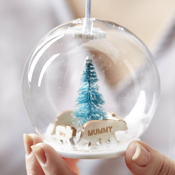 Personalised Polar Bear Family Bauble