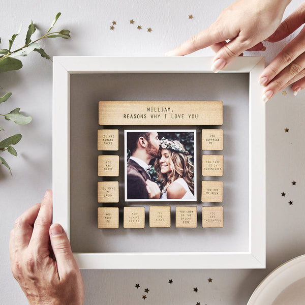 Personalised Reasons Why I Love You Framed Print