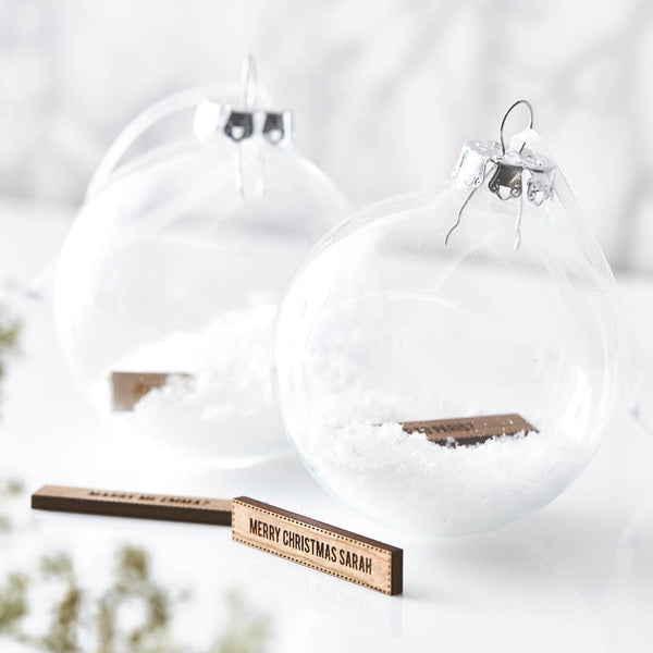Personalised Secret Message Bauble