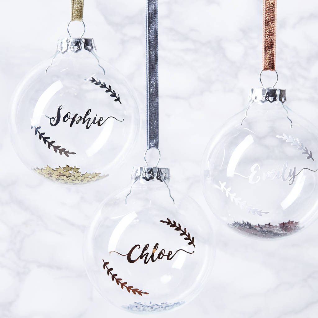 Personalised Sequin Bauble