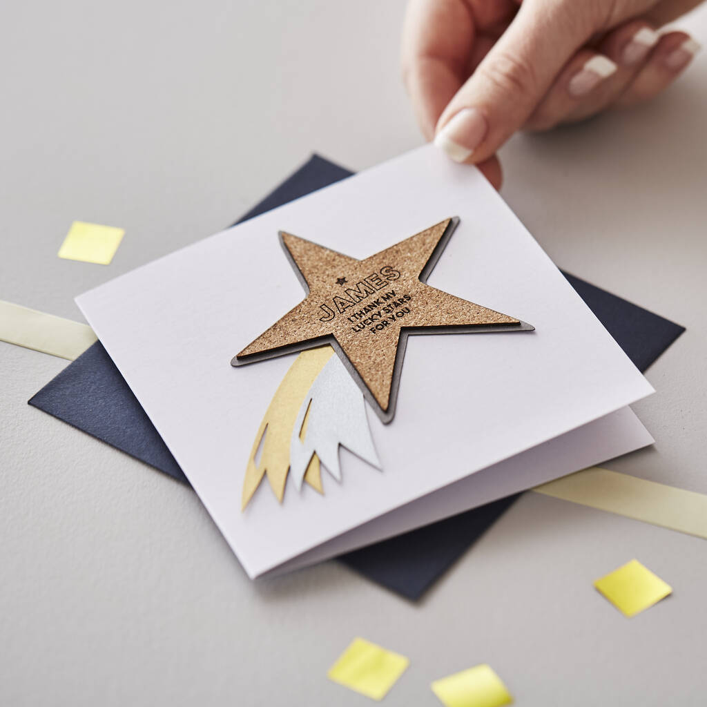 Personalised Shooting Star Card